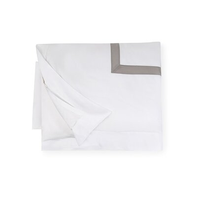 Orlo Duvet Cover Size: Full/Queen, Color: White/Gray
