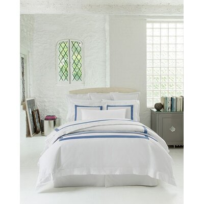 Orlo Duvet Cover Size: Full/Queen, Color: White/Cornflower Blue