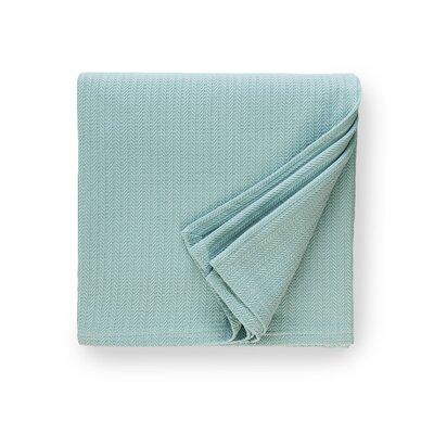 Grant Cotton Blanket Size: Full/Queen, Color: Aqua