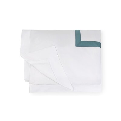 Orlo Duvet Cover Size: Full/Queen, Color: White/Aqua