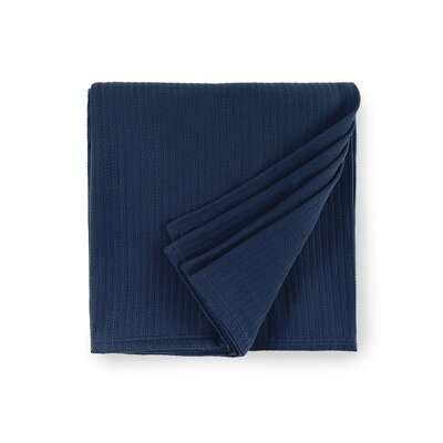 Grant Cotton Blanket Size: Full/Queen, Color: Navy
