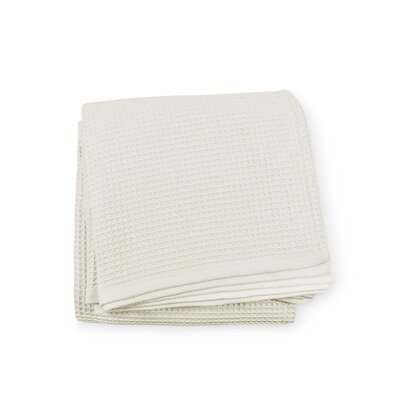 Kingston Cotton Blanket Color: Ivory, Size: Twin