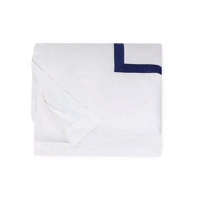 Orlo Duvet Cover Size: King, Color: White/Navy
