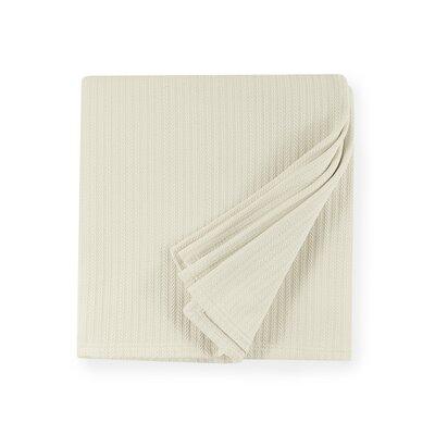 Grant Cotton Blanket Color: Ivory, Size: Full/Queen