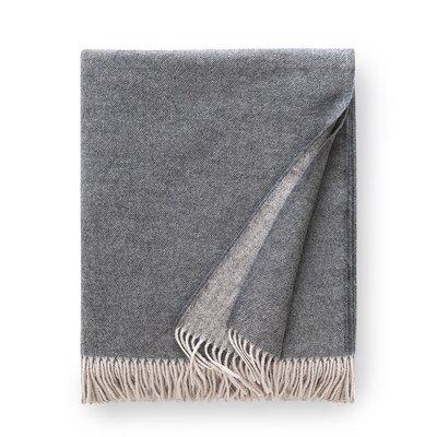 Tartini Merino Wool Throw Color: Steel