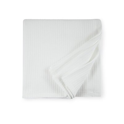 Grant Cotton Blanket Color: White, Size: Full/Queen
