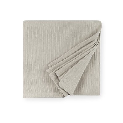 Grant Cotton Blanket Color: Gray, Size: Full/Queen