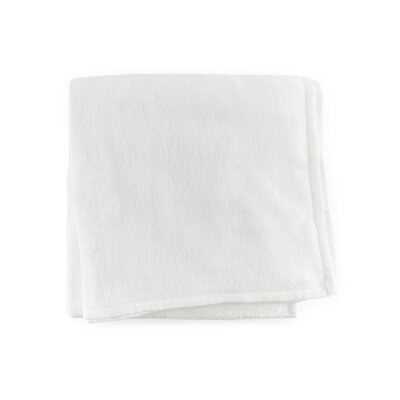 St. Moritz Cotton Blanket Color: White, Size: Full/Queen
