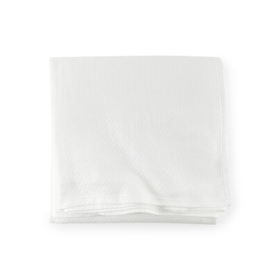 Riano Cotton Blanket Color: White, Size: Twin