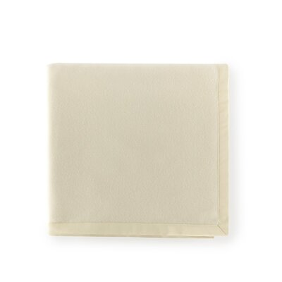 Olindo Bagged Lambswool Linen Blanket Color: Sand, Size: Queen
