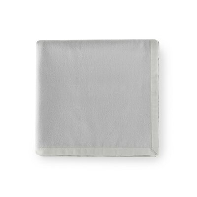 Olindo Bagged Lambswool Linen Blanket Color: Gray, Size: Queen