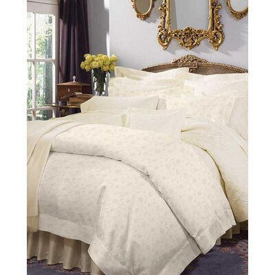 Giza 45 Jacquard Bottom Cotton Fitted Sheet Size: California King, Color: Ivory