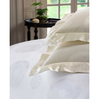 Giza 45 Medallion Pillow Case Color: White, Size: Standard