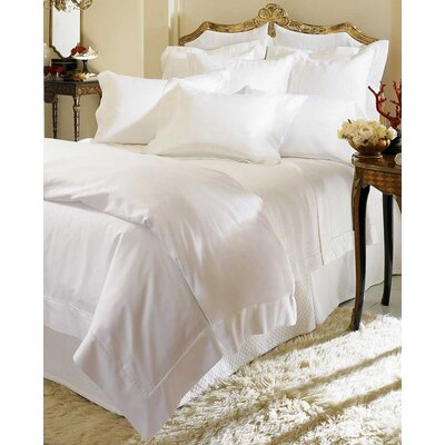 Giza 45 Percale Bottom Cotton Fitted Sheet Size: Queen