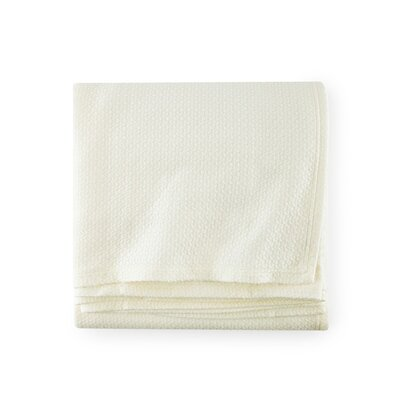 Riano Cotton Blanket Color: Ivory, Size: King