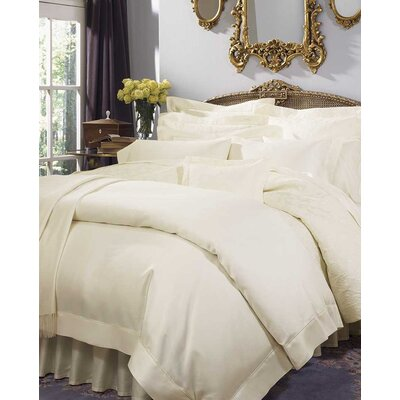 Giza 45 Sateen Bottom Cotton Flat Sheet Size: Queen