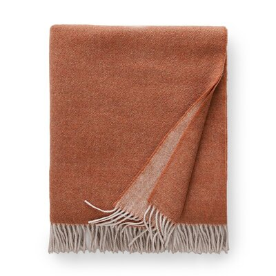 Tartini Merino Wool Throw Color: Copper