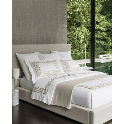 Saxon Duvet Cover Color: Champagne, Size: Full/Queen