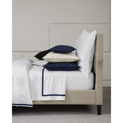Larino 100% Cotton Bottom Fitted Sheet Color: Navy, Size: Twin