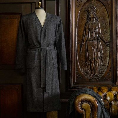 Holden Gift Boxed Mens Cashmere Bathrobe Size: Large/Extra Large