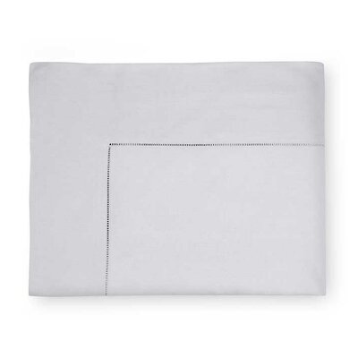 Celeste Cotton Flat Sheet Size: Twin, Color: Tin