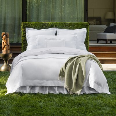 Giotto Bottom Cotton Fitted Sheet Color: Ice, Size: California King