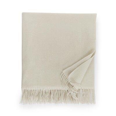 Dorsey Cashmere Throw Color: Ivory