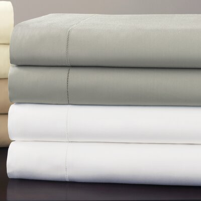 Fiona 300 Thread Count Egyptian Quality Cotton Flat Sheet Size: Queen, Color: Grey