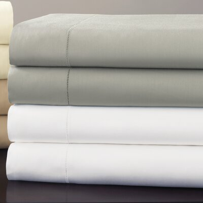 Fiona 300 Thread Count Egyptian Quality Cotton Fitted Sheet Size: Queen, Color: White