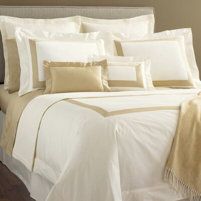 Orlo Egyptian Pillowcase Color: White / Grey, Size: King