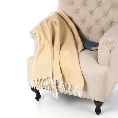 Celine Throw Blanket Color: Wheat