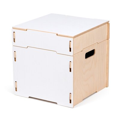 Caja Ottoman Finish: White