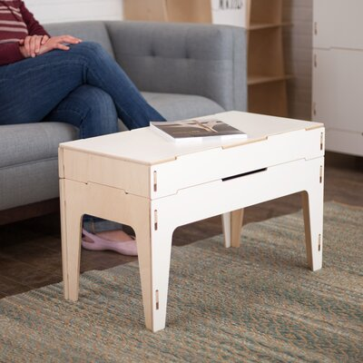 Coffee Table with Lift Top Finish: White