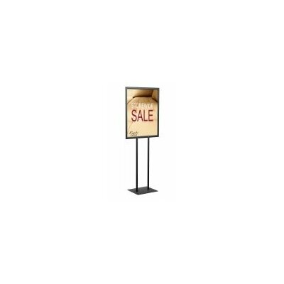 Poster Pole Signholder Color: Matte Black, Size: Double Pole 66 H x 22 W