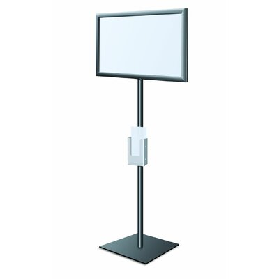 Perfex Pedestal SignFrame Color: Matte Black, Graphic Size: 8.5