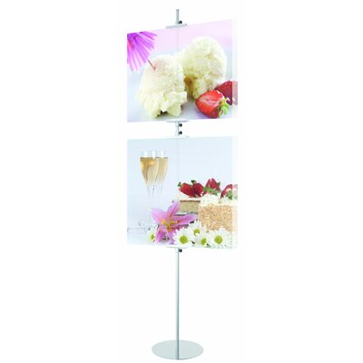 Simple SignHolder Size: 96 H x 18 W x 18 D, Color: Satin Silver