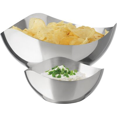 2-Piece Shona Stainless Steel Chip & Dip Set 56787