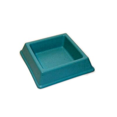 Bamboo Cat Water Bowl Color: Blue