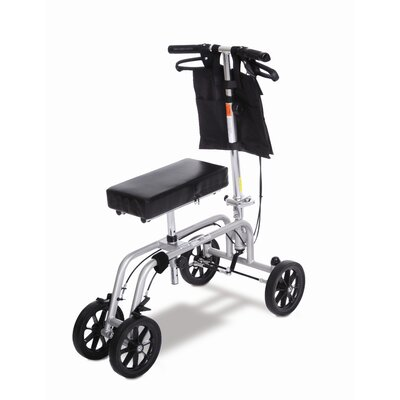 ESSENTIAL MEDICAL Free Spirit Knee Walker in Black and Silver