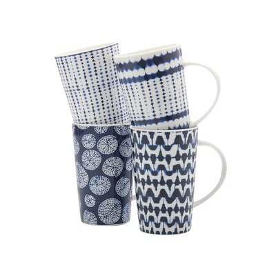 4 Piece Shibori Coffee Mug Set DI0035
