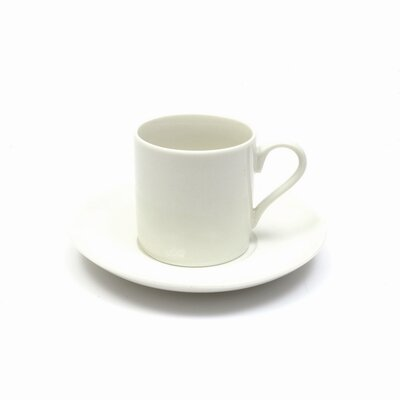 Maxwell & Williams White Basics 4 oz. Demi Cup and Saucer (Set of 6) P040