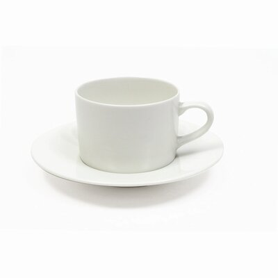 Maxwell & Williams White Basics 7.5 oz. Cup and Saucer (Set of 6) P080