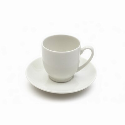 Maxwell & Williams White Basics 2 oz. Cup and Saucer (Set of 6) P150