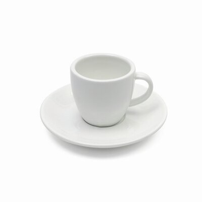 Maxwell & Williams White Basics 4 oz. Demi Cup and Saucer (Set of 6) AA1944