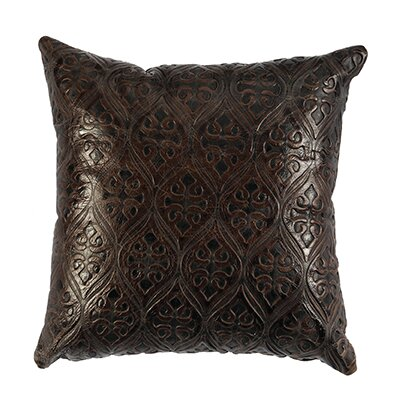 Leather Throw Pillow Back Material: Leather