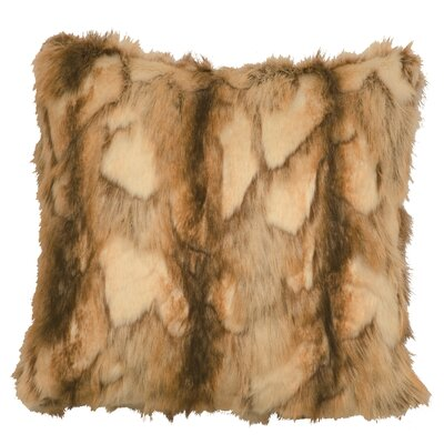 Brandy Fox Fur Euro Faux Fur Throw Pillow