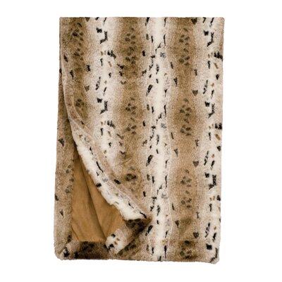 Snow Lynx Fur Throw Blanket