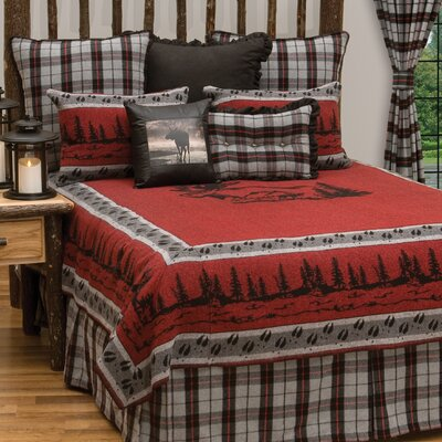 Moose 4 Piece Coverlet Set Size: King