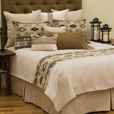Mountain Storm 4 Piece Reversible Duvet Set Size: California King