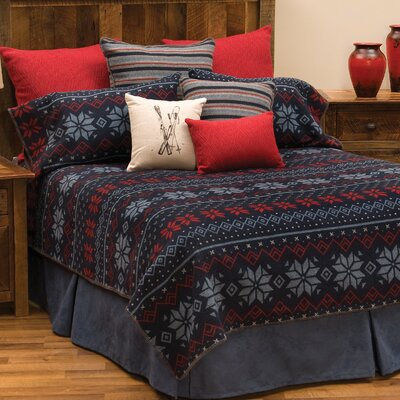 Nordic 4 Piece Coverlet Set Size: King